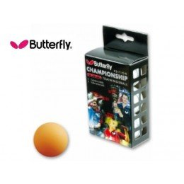 6 palline da ping pong butterfly training gialle