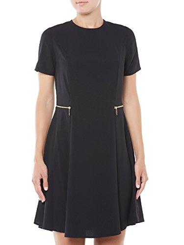 Abito Michael Kors in colore nero con zip in vita Noir