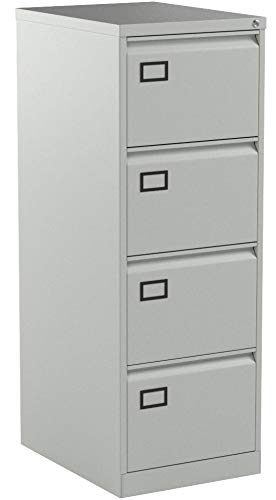 Office Hippo Bisley 4-Drawer Contract Steel Filing Cabinet – Goose Grey