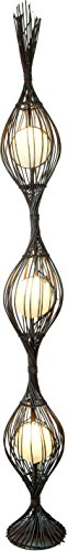 Guru-Shop Stehlampe/Stehleuchte Kokopelli Soriso 190 cm Floor - Exotische Leuchte aus Natur-Material, Abaccaschnüre, Dekolampe Stimmungsleuchte (Natur-shop)