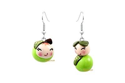 Lady-Charms - Fait main - Boucles d'oreilles Miss Pomme