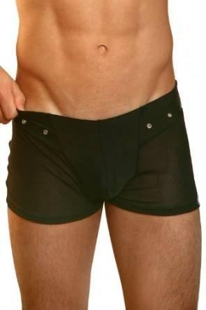 Schwarzes Herren T-Shirt oder Männer Boxer / Boxershort Open Spirit von Look Me Dessous Variante: Herren Boxer