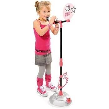 Smoby - 27273 - Instrument de Musique - Hello Kitty - Microphone Sur Pied