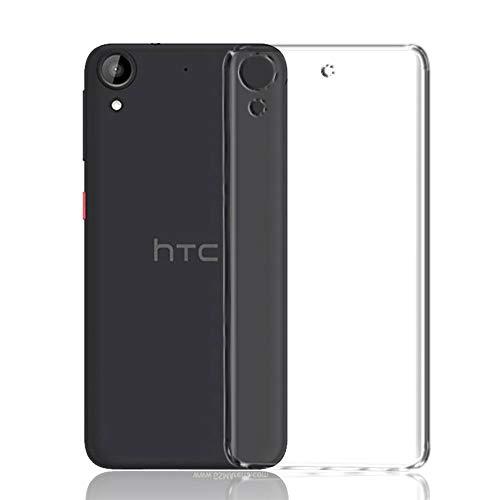 Cover Bazar' HTC 626 Mobile Phone Premium Transparent Back case Cover (Transparent Cover)