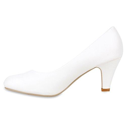 Coupe fermées Blanc Stiefelparadies Blanc femme wqXZnwd5