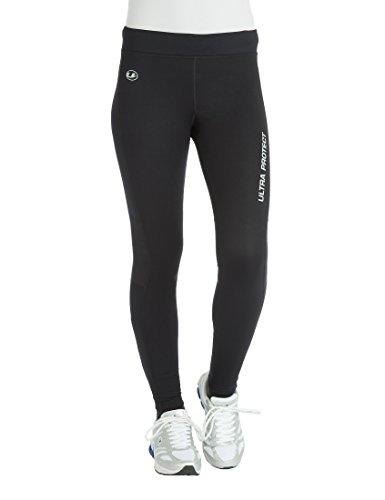 Ultrasport Windstopper Pantaloni da Corsa Funzionali da Donna, Nero/Rosa, L