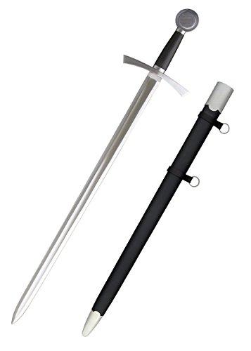 Ritter Schwert Löwenherz Einhandschwert Mittelalter + scharf + echt von Hanwei ® (Mittelalterliches Schwert Aus Kohlenstoffstahl)