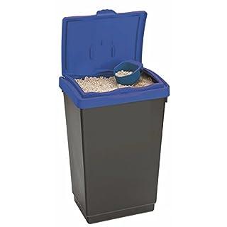 Large Plastic Storage Bins Animal Pet Horse Feed Bird Seed Food Flour Salt + SCOOP (47 Litre, Blue)