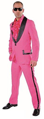 Für Erwachsene Smoking Hose Kostüm - M214292-4-L pink Herren Smoking Jackett Hose Gr.L