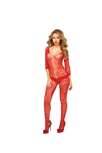 Queen-size Bodystockings (Seven til Midnight 20421X Bodystocking, rot (Queen Size))