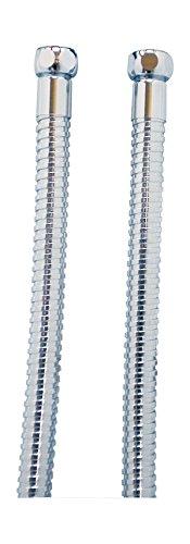 Preisvergleich Produktbild Brauseschlauch für Badeofen | Metall | Chrom | Mit Drehkonus | 1,50 m