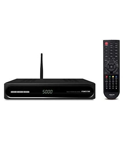 Oferta de Fonestar RDS-584WHD - Receptor Satélite HD, WiFi, USB 2.0, Ethernet, 12 V DC, 1 A con adaptador incluido, Negro, 220 x 40 x 140 mm