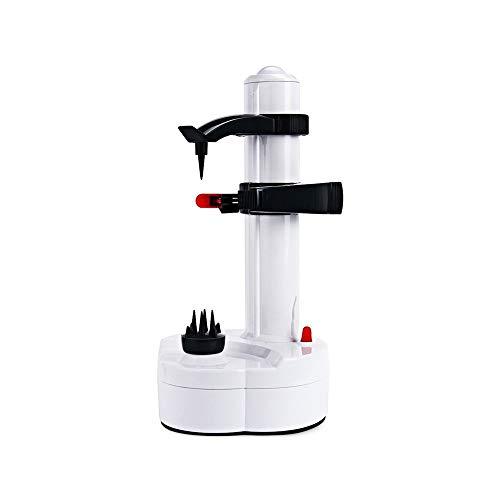 ZHYP Electric Fruit &Veggie Peeler [2 Extra Blades]- Automatic Rotating Fruits & Vegetable Cutter Apple Paring Machine - Kitchen Pee (Elektrische Baum-cutter)