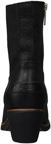 Shabbies Amsterdam Shabbies 16cm Zipbooty Rubber Black Sole 5cm Heel Lucie, Bottes Classiques femme Noir - Noir