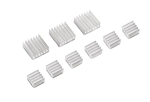 ALLDE 3x3 Set Dissipateurs Aluminium ensemble du dissipateur thermique pour Raspberry Pi 3 Model B/ Pi 2 Model B et Pi B+