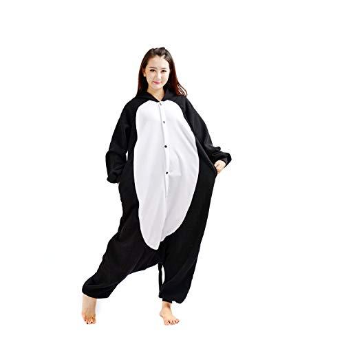 DarkCom Erwachsene Onesies Frauen Pyjamas Sleepsuit Flauschige Kigurumi Halloween Kostüme Jumpsuit (M für Höhe (155CM-170CM), Schwarze Katze)