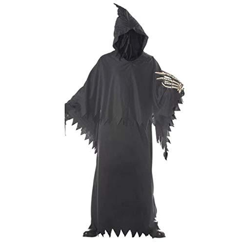 Innerternet Horror Sensenmann Gevatter Tod Kostüm Halloween Karneval Verkleidung Herren Kinder Jungen Halloween Scary Horror Death Fancy Kostüm One Size Prop - Jungen Sensenmann Kostüm