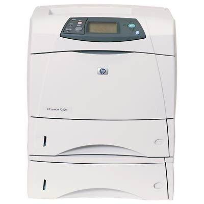 HP LaserJet 4250tn Printer - Laser-/LED-Drucker (216 x 356 mm, 43, 45, Microsoft Windows 2000: 133 MHz processor, 64 MB RAM, CD-ROM drive; Windows XP: 233 MHz processor, 6, PDF 1.3, HP Web Jetadmin, HP LaserJet Utility, HP Embedded Web Server, HP LaserJet Toolbox, 220 - 240 VAC (+/- 10%), 50/60 Hz (+/- 3 Hz); 100 - 127 VAC (+/- 10%), 50/60 Hz (+/- 3 Hz))