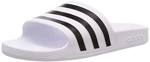 Adidas adilette aqua scarpe da spiaggia e piscina unisex adulto, bianco (ftwr white/core black/ftwr white ftwr white/core black/ftwr white), 42 eu