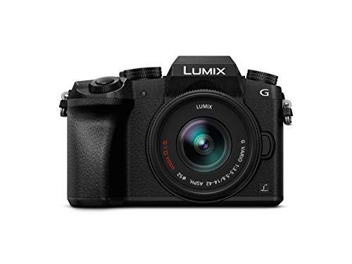 """Panasonic-Lumix G7KEC K-Cámara digitale con intercambiabile da 14-obiettivo 42 mm, 16 mpx, schermo: 3"""", 4 K sulla registrazione video, Wi-Fi), colore: nero"""