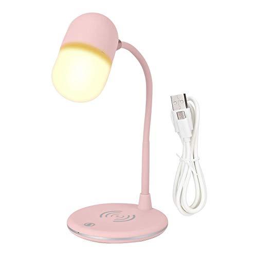 BTIHCEUOT Nachtlicht Smart Step Helligkeits-Touch-Einstellung mit kabellosem Mini-Musikladeblitz(Weiß)