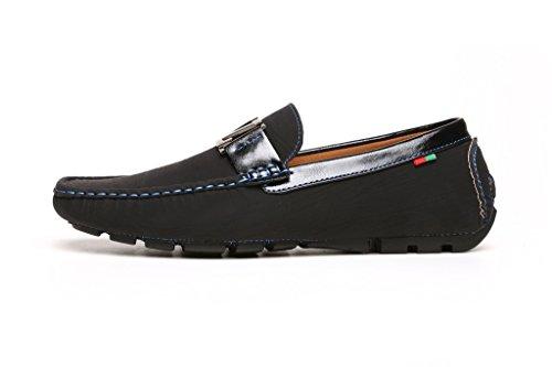 Scarpe Casual Uomo Driving Designer Moccassini Mocassini Da Infilare Fashion Italiana Stile nero GB Nero/Nero