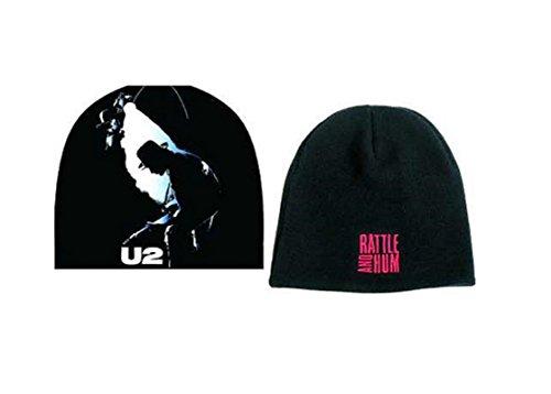 U2 Bonnet Cap Rattle and Hum logo nouveau officiel Noir