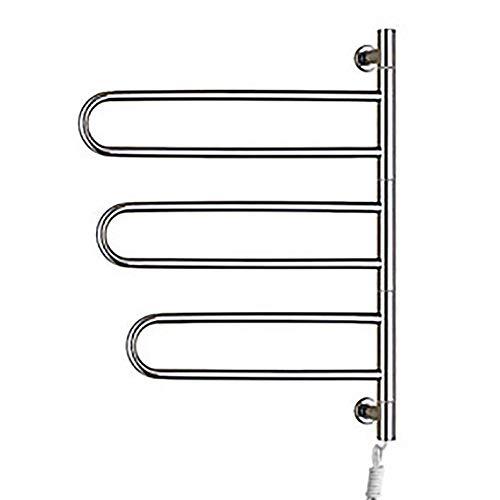 BILLY'S HOME Handtuchwärmer zur Wandmontage, energieeffizienter, elektrisch beheizter Handtuchhalter für Badezimmer, Handtuchwärmer aus Edelstahl, 30,7 x 23,2 x 4,4 Zoll,Plugin -