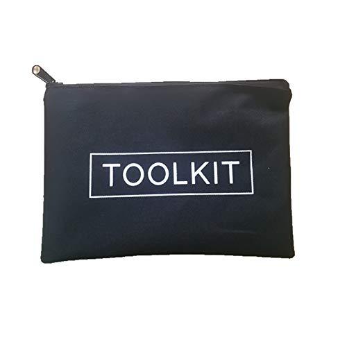 Oxford Cloth Tool Kit Bag Reißverschluss Aufbewahrungstasche (schwarz) ()