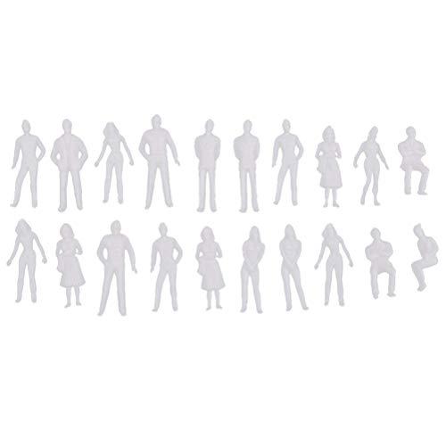 30 stücke 1:50 modell miniatur weiße figuren architektonisches modell menschlichen skala modell abs kunststoff völker 35mm -