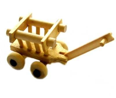 Miniatur Leiterwagen 4cm [Spielzeug]
