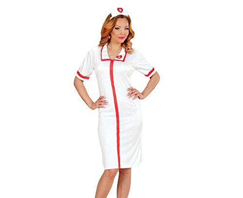 chsenenkostüm Krankenschwester, Kleid und Häubchen, weiß (Halloween Krankenschwester Zubehör)