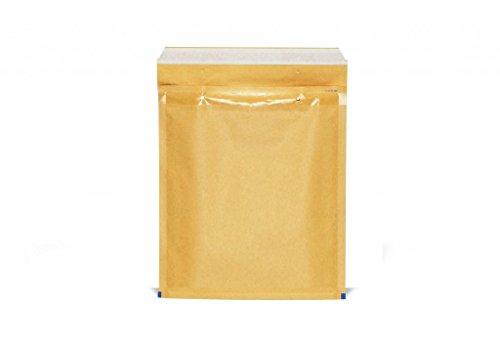 100 Buste Gpack Imbottite per spedizioni colore AVANA Con Pluriball 5 / E - Misure 220 X 265 - Buste bolle aria - Air bubble Bags Classic - BUSTE POSTALI 220 X 265 MM PEZZI AVANA 22X26 BUSTA POSTALE IMBOTTITA