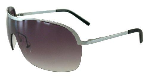 Metall Sonnenbrille M7016 silber matt Pilotenbrille