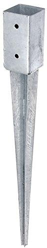 floristikvergleich.de GAH-Alberts 211271 Einschlag-Bodenhülse für Vierkantholzpfosten – feuerverzinkt, 71 x 71 mm/750 mm