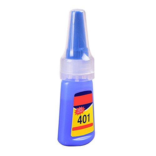 Ganquer 401 Rapid Fix Sofort-Kleber, 20 g Flasche, stärkerer Super-Kleber, Mehrzweck-Kleber, blau, Free Size -