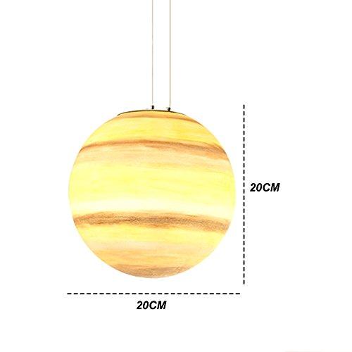 OOFAY Die Vast Universe-Serie Von Pendelleuchte, Glass Steel Made Aus, Inspirieren Kinder Phantasie,Saturn,20CM -