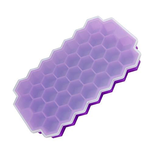 Promise2134 A Eiswürfelform mit Silicagel, Wabenform, 37 Gitter, 9,5 ml violett