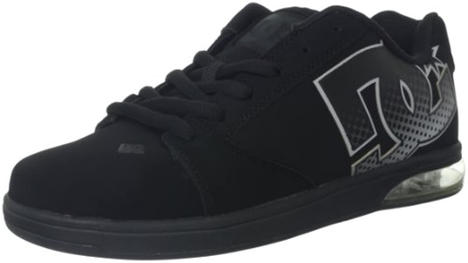 DC New Skate Shoes Raif Viz Air Pocket Black/Black Size 8  -