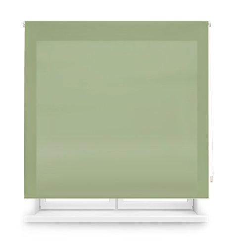 Blindecor Ara - Estor enrollable translúcido liso, Verde Pastel, 160 x 175 cm