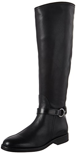 Marc O\'Polo Damen Flat Heel Long Boot 70814228002124 Reitstiefel, Schwarz (Black), 41 EU