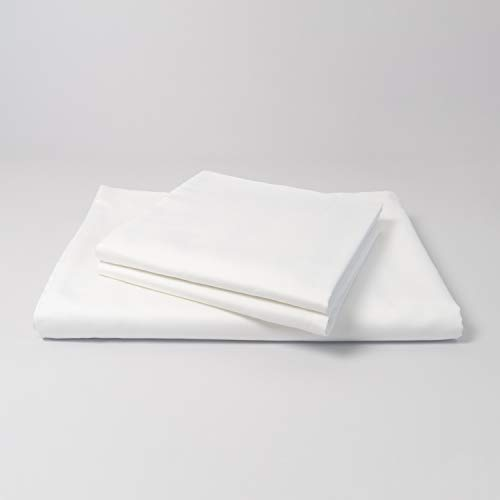 cloudlinen Luxus Bettwäsche Set aus 100{e43acd5f3bc0998e163233906cd81ecd21f33d04f00969644ac65d3d86a6bc67} ägyptischer Baumwolle - 240x220 (Bettbezug) + 2 * 80x80 (Kissen) - Weiss einfarbig/unifarben - kuscheliger, Warmer, weicher Satin für besten Schlaf
