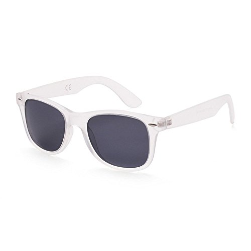 Preisvergleich Produktbild Panelize Sonnenbrille Wayfarer transparent stabil viele Farben getönte Gläser Kultstyle (Grau)