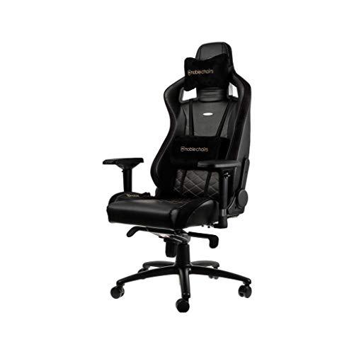 noblechairs EPIC Gaming Stuhl - Bürostuhl - Schreibtischstuhl - PU-Kunstleder - Schwarz/Gold
