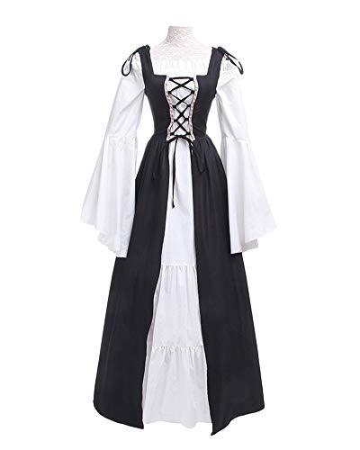 DianShaoA Damen Mittelalter Kleider Viktorianischen Königin Kleid Cosplay Kostüm Langarm...