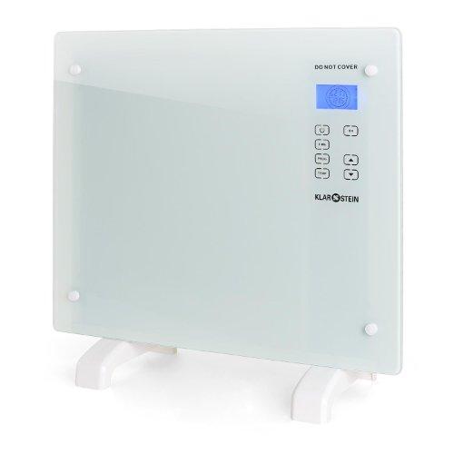 Klarstein HT006GL radiateur électrique à convection design ultra-plat (avec contrôle tactile rétro...