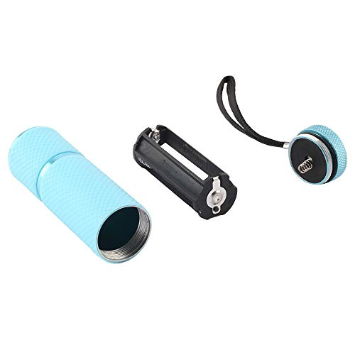 Mini 9 LED Taschenlampe Lampe Nagel Trockner Tragbare UV Gel 15 s Schnelle Trockene Nagellack Aushärtung Lampe Aluminiumlegierung AAA Batterie - Trockner Aushärtung