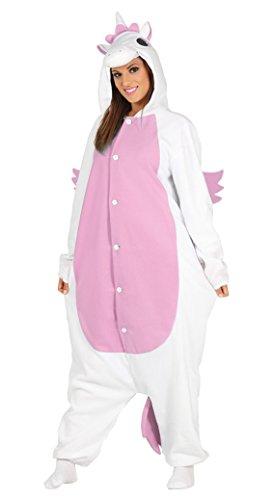 Imagen de disfraz tipo pijama de unicornio rosa para mujer