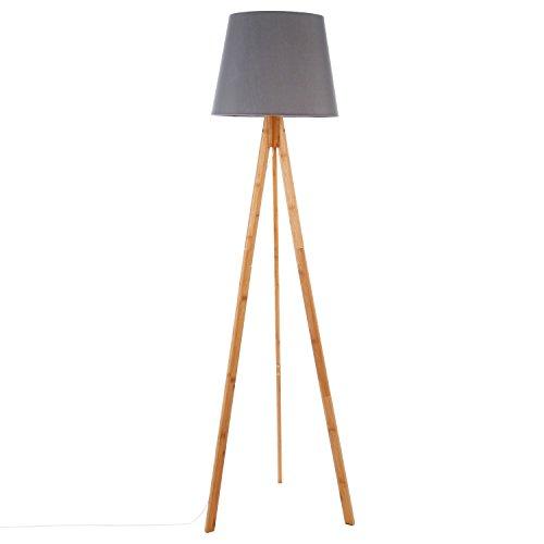 Lampadaire en bambou BAHI gris 160 cm