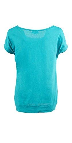 Coline - Tee shirt femme manches courtes Petrole